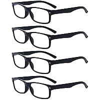 Outray Men Or Women 4 Pack Spring Hinges Frame Rectangular Reading Glasses