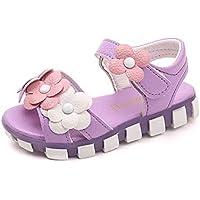 通用 HB Girls Princess Ballet Shoes Plat Glitter Sandal Flower Party Shoes School for Dress