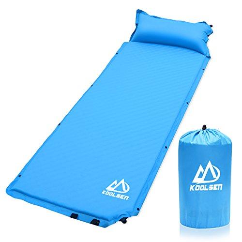 エアーマット キャンプマット キャンピングマット KOOLSEN エアーベッド 自動膨張 連結可能 テント泊 車中泊 耐水加工 アウトドア キャンプ 寝袋 枕が付き