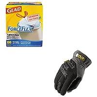 kitcox70427mnxmff05010–Valueキット–Mechanix Wear FastFit作業手袋( mnxmff05010)とGlad ForceFlex tall-kitchen巾着バッグ( cox70427)