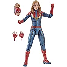 Marvel Captain Marvel  6-inch Legends Captain in Costume Figure for Collectors, Kids, and Fans
