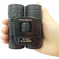 widesighter 8 x 21折りたたみルーフプリズムコンパクト双眼鏡ローライトナイトビジョンの屋外観光