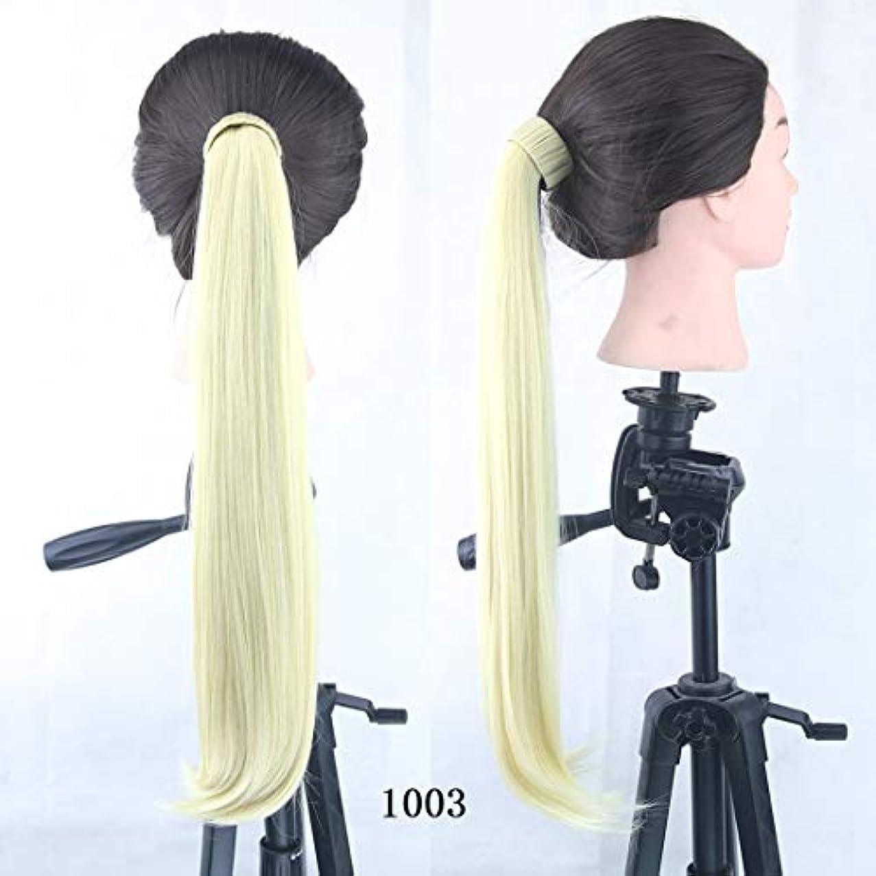 ランプ解明する信頼性のあるJIANFU マイクロボリュームの破片ポニーテール8色オプションのガールズ金属の破片ポニーテールストレートヘア (Color : Color 1003)