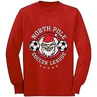 Santa Claus North Pole Soccer League Christmas Toddler/Kids Long Sleeve T-Shirt