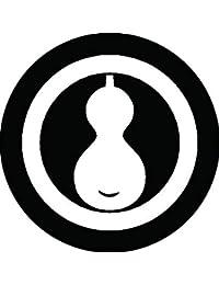 家紋シール 丸に一つ瓢紋 布タイプ 直径40mm 6枚セット NS4-0432
