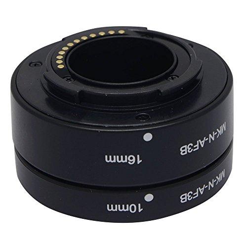 Mcoplus mk-n-af3-b自動フォーカスAFマクロ延長チューブリングセットアダプタfor Nikon 1マウントレンズカメラj1j2j3V1v2