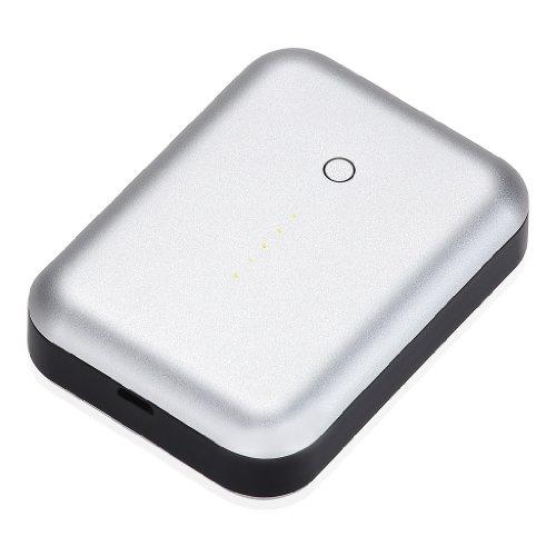 【日本正規代理店品・保証付】Just Mobile Gum++ Aluminum 2.5A高出力・急速充電対応・モバイルバッテリー シルバー JTM-BY-000017