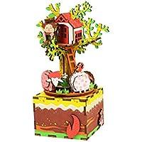 am408 DIY 3d木製パズル音楽ボックス: Tree House