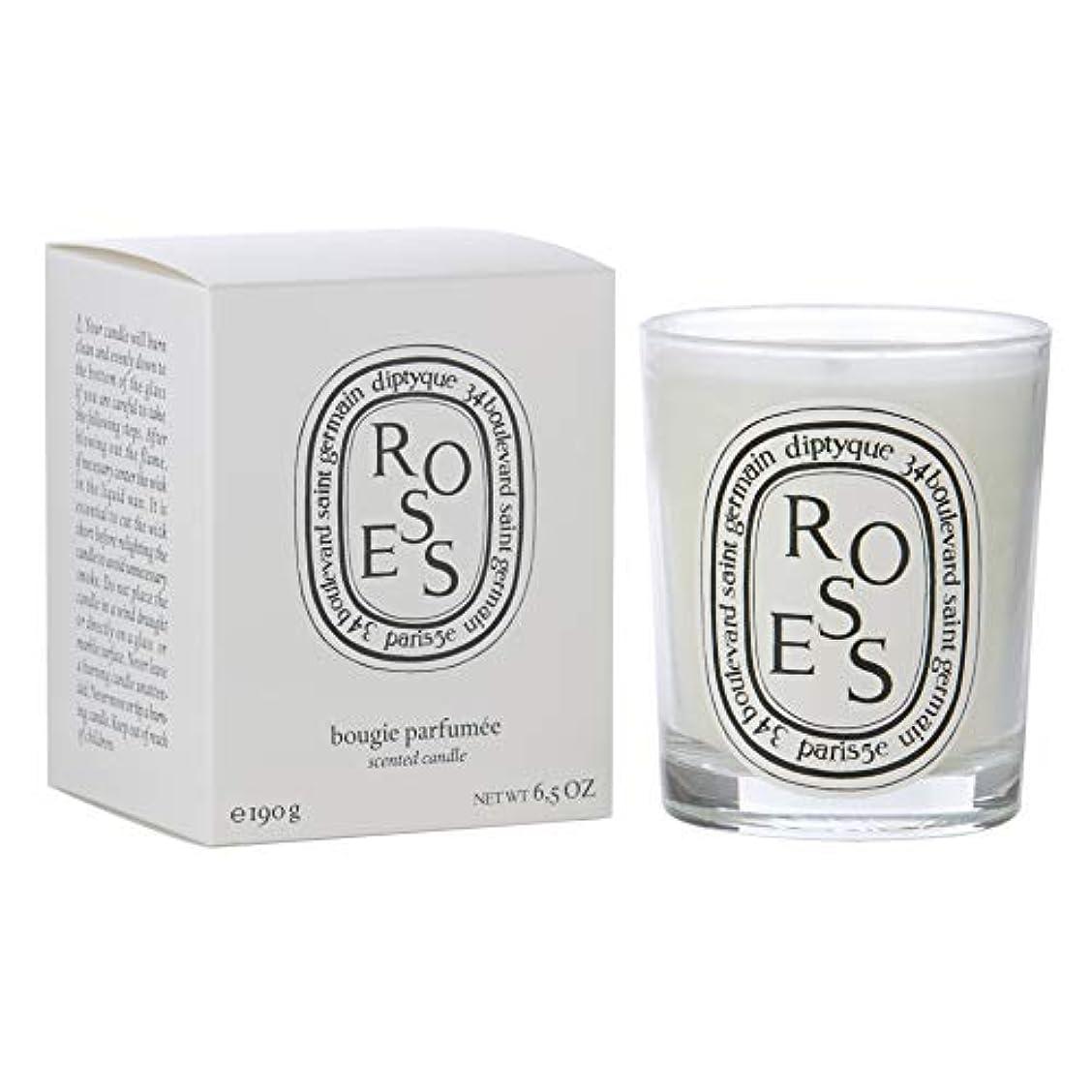 ハードリングカカドゥ遊びます[Diptyque] Diptyqueバラの香りのキャンドル190グラム - Diptyque Roses Scented Candle 190g [並行輸入品]