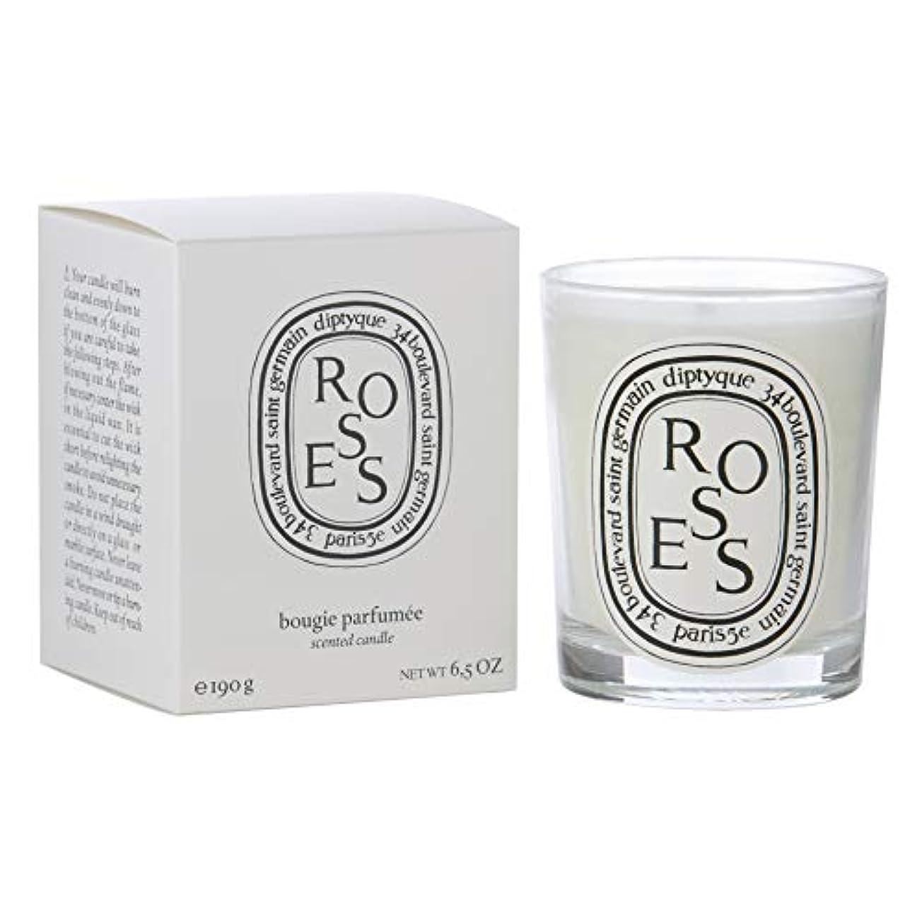 傾いたなめらかなどういたしまして[Diptyque] Diptyqueバラの香りのキャンドル190グラム - Diptyque Roses Scented Candle 190g [並行輸入品]