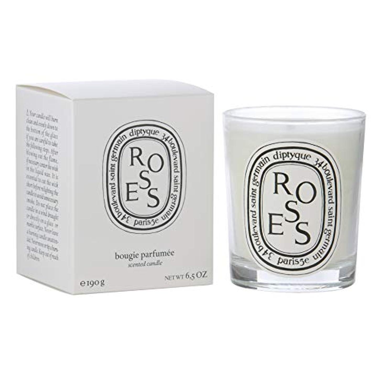 和腹部気怠い[Diptyque] Diptyqueバラの香りのキャンドル190グラム - Diptyque Roses Scented Candle 190g [並行輸入品]
