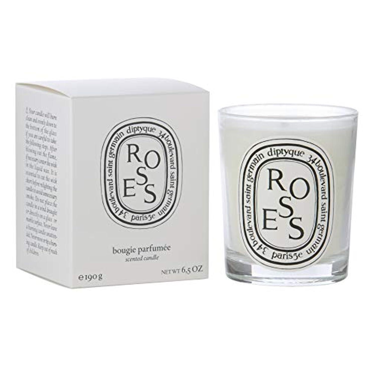 包囲セッション同級生[Diptyque] Diptyqueバラの香りのキャンドル190グラム - Diptyque Roses Scented Candle 190g [並行輸入品]