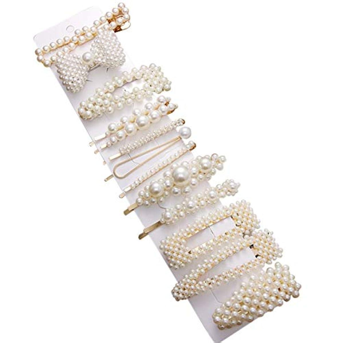 最少中世の自動Intercoreyファッション女性女の子エレガント真珠ヘアクリップ甘い帽子髪飾??りヘアピンバレットヘッドバンドヘアアクセサリー