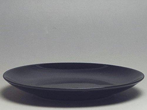 【B級品】黒ツヤ 丸皿(φ155)(表面に、擦過傷が目立ちます。)