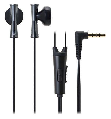オーディオテクニカ スマートフォン用インナーイヤーヘッドホン ATH-J100iS BK ブラック
