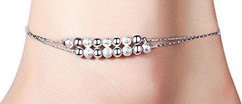[해외]Judote 여자 구두 여성 인기 925 심플 체인 CZ 다이아몬드 큐빅/Judote anklet ladies popular silver 925 simple chain CZ diamond cubic zirconia