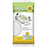 Tidy Cats Cat Litter, Breeze, Litter Pad Refill, Unscented, 4 Count Pouch by Purina Tidy Cats