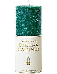 カメヤマキャンドル(kameyama candle) ネオブラッシュピラーL キャンドル 「 グリーン 」