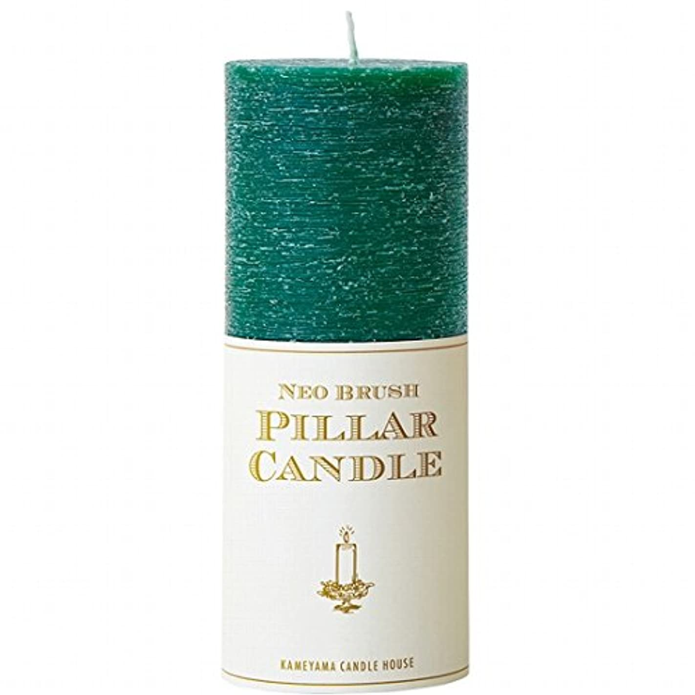 密度フルート療法カメヤマキャンドル(kameyama candle) ネオブラッシュピラーL キャンドル 「 グリーン 」