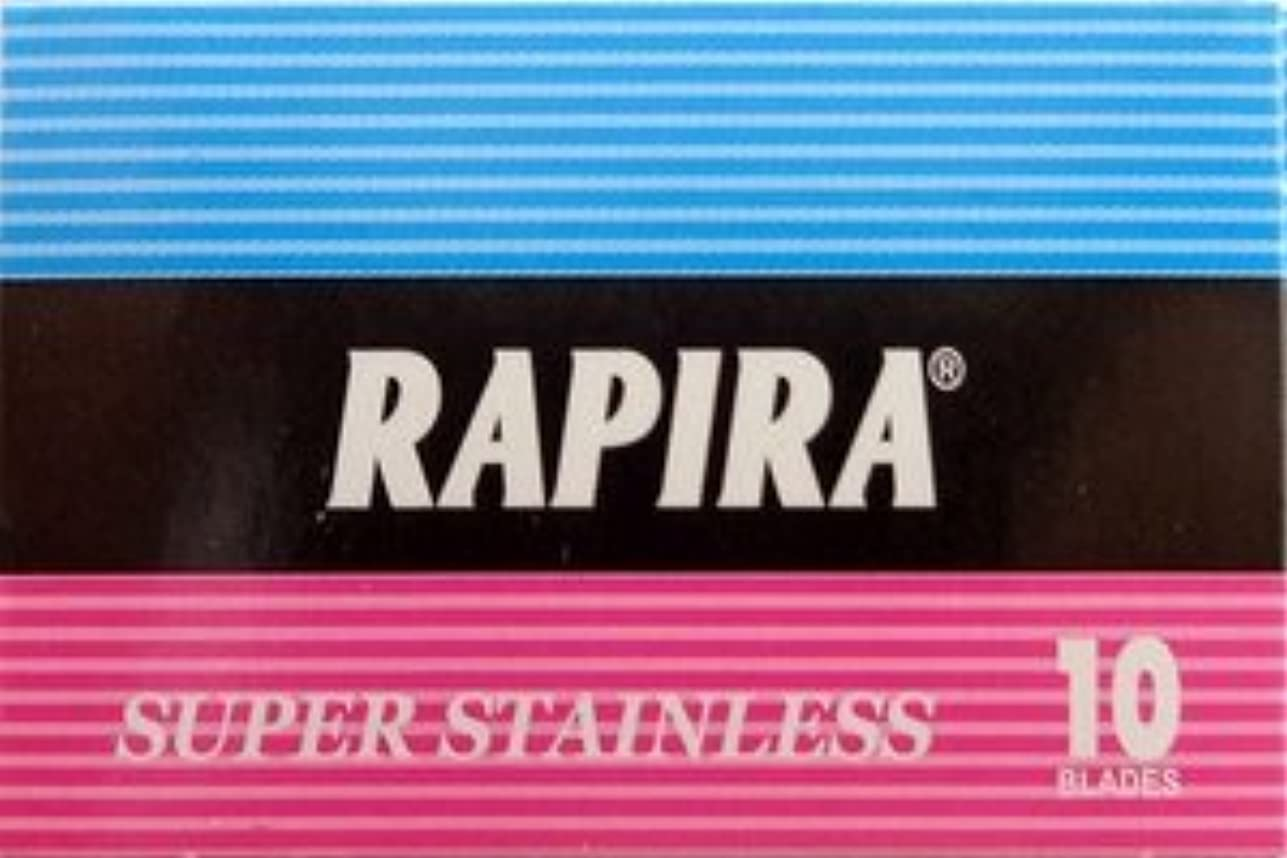 Rapira Super Stainless 両刃替刃 10枚入り(10枚入り1 個セット)【並行輸入品】