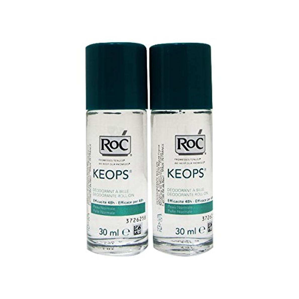 伝染性ぼかす帝国主義Roc Pack Keops Deodorant Roll On Intense Sweating 2x30ml [並行輸入品]