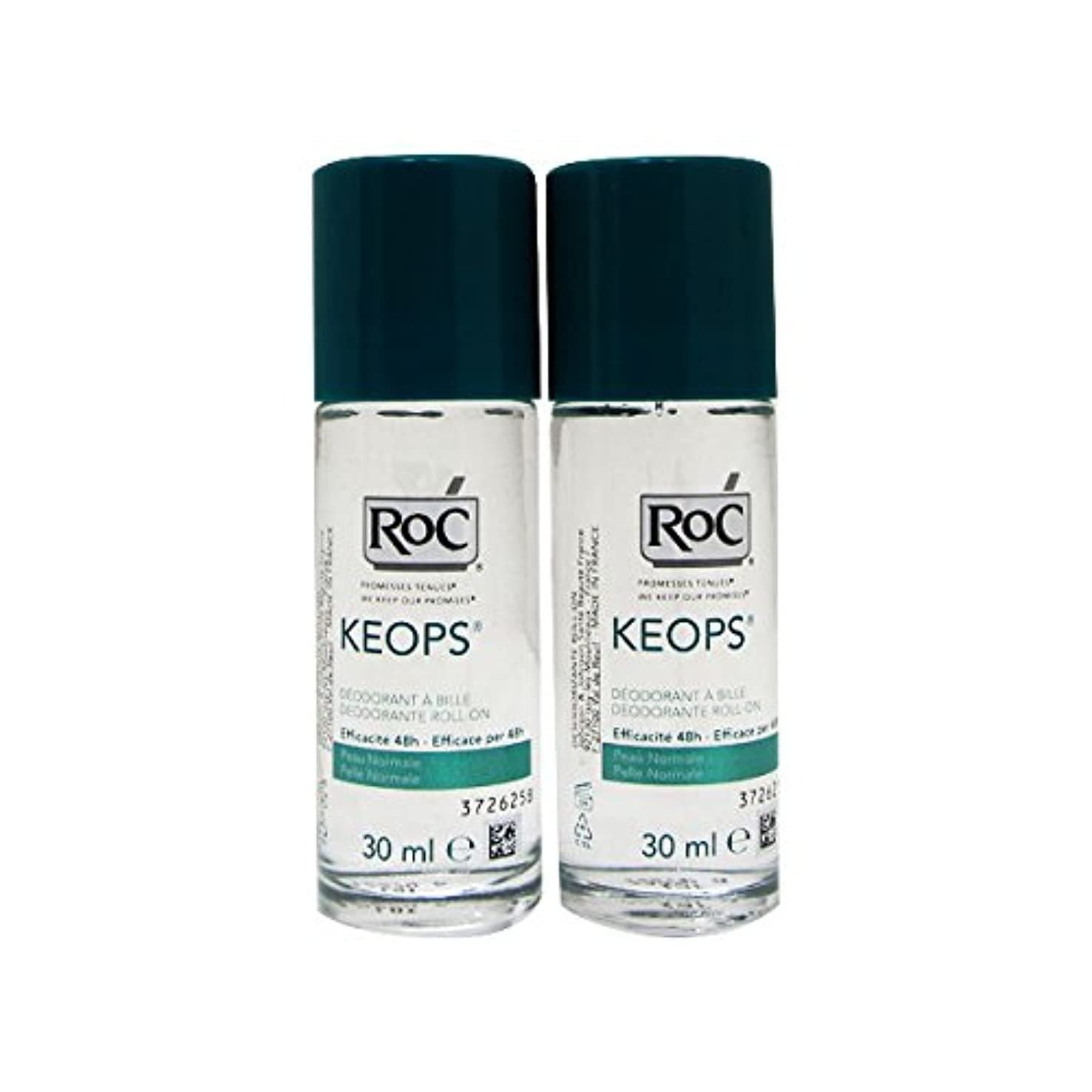 手荷物シアー仕事に行くRoc Pack Keops Deodorant Roll On Intense Sweating 2x30ml [並行輸入品]