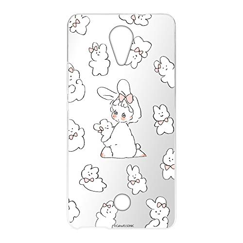 Caho Wiko Tommy P4903JP ケース クリア TPU プリント うさぎA (ch-051) スリム 薄型 WN-LC1026904