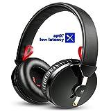 【AptX-ll&低音モデル】OneOdio テレビ ヘッドホン Bluetooth TV ヘッドホン ワイヤレス 低音強化 遅延なし 密閉型 A61