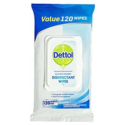 Dettol Antibacterial Disinfectant Wipes, 120 Wipes