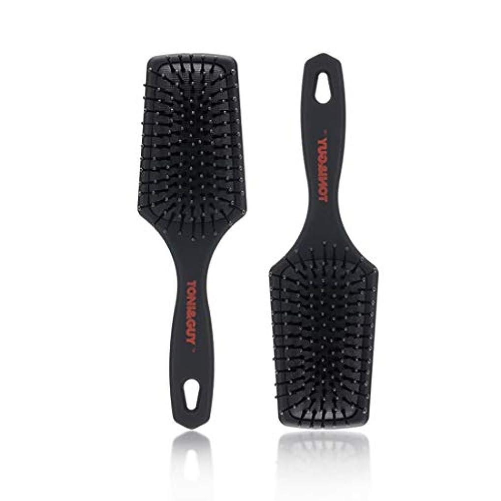 見ましたリハーサルハリウッドGuomao 2本のヘアブラシ、刺激のないヘアブラシは静電気を減らし、ブラシは破損を防ぎます (色 : 黒)