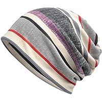 Luccy K Women's Lightweight Turban Slouchy Beanie Hat CapGrayOne Size