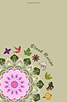 Blank Recipe: 6 x 9, 80 Pages, Unique Mandala Designs for Cover, Recipe for Kitchen, Cookbook, Journal, Blank book to Write in Classic Notebook Ruled Diary for Men Women Writers Artist