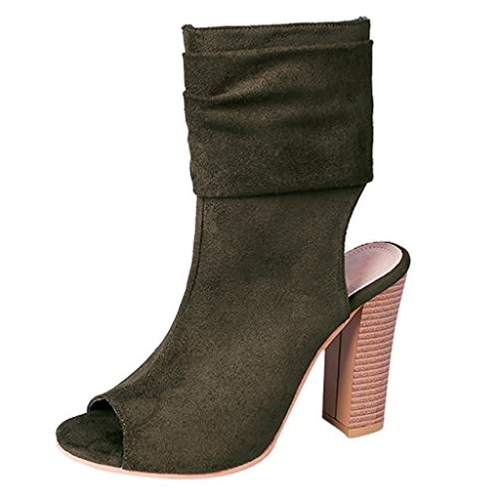 申し立て普通のブレイズBESDAD [35-43]女性用ハイトップサンダル、スクエアハイヒールフィッシュマウスローマンスタイルの靴