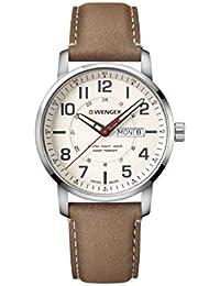 78d7bd4c4f [ウェンガー]WENGER 腕時計 10気圧防水 ミリタリー デイデイト Attitude Day&Date 01.1541.103 メンズ
