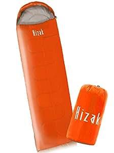 【 洗濯機 丸洗いOK 寝袋 】Hizak コンパクト 封筒型 シュラフ オールシーズン 用 軽量 900g