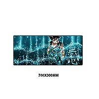 XIAOXIANNV ドラゴンボールマウスパッド アニメキーボードマット ゲーマーラバーロックエッジ ノートブック マウスマット ラージゲーミングマウスパッド デスクパッドマウス 70X30mm