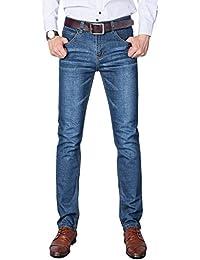NEWHEY ジーンズ メンズ スキニー ジーパン ズボン 大きいサイズ ストレッチ デニムパンツ ストレート 美脚 細身 春夏 標準 薄手 2タイプ対応