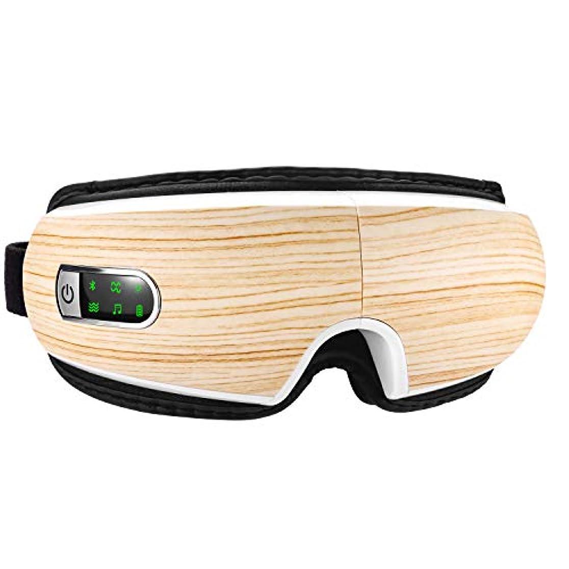 グレーアクチュエータゴネリル目マッサージ器 目元エステ 目元美顔器 ホットアイマスク 快眠グッズ 振動機能 音楽機能 USB充電式 タイマー機能 アイマスク