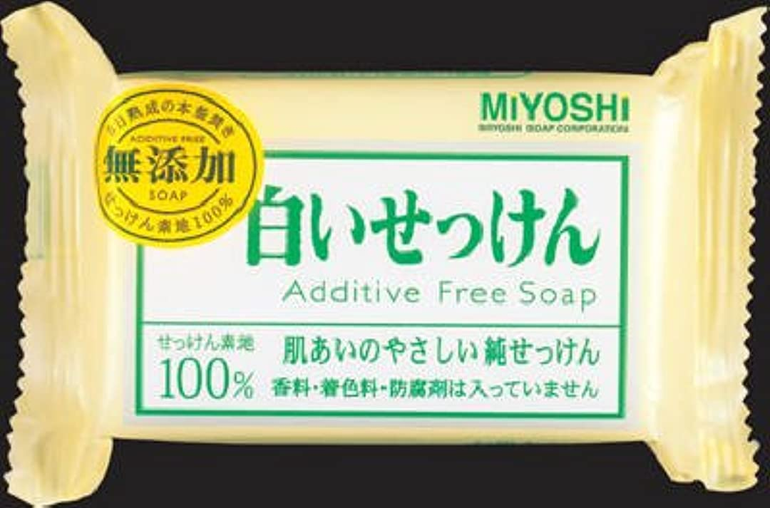 ムスタチオ引用疑問に思うミヨシ石鹸  無添加 白いせっけん108g×80点セット (4904551001522)