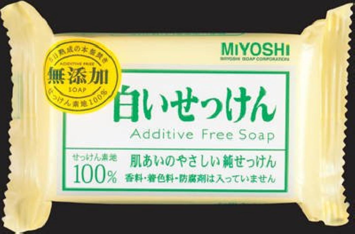 知事復活するに対応するミヨシ石鹸  無添加 白いせっけん108g×80点セット (4904551001522)