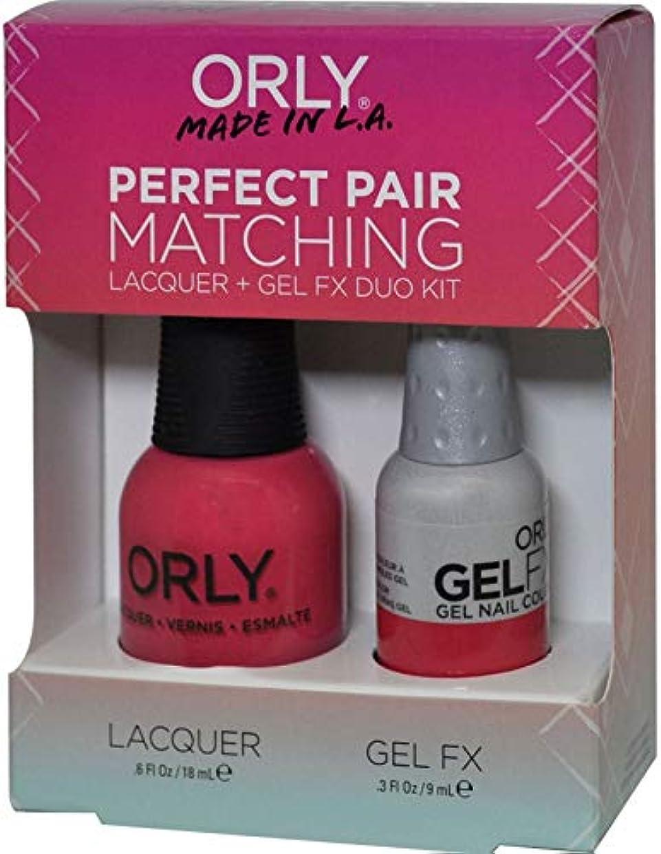 怠けたぬれた従来のOrly Nail Lacquer + Gel FX - Perfect Pair Matching DUO - Lola