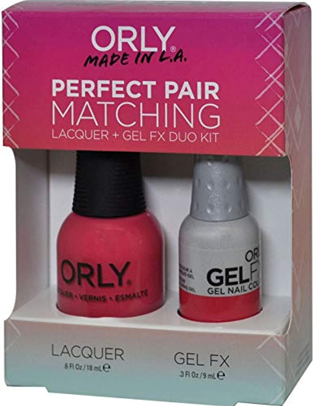 呪い明確に分析的Orly Nail Lacquer + Gel FX - Perfect Pair Matching DUO - Lola