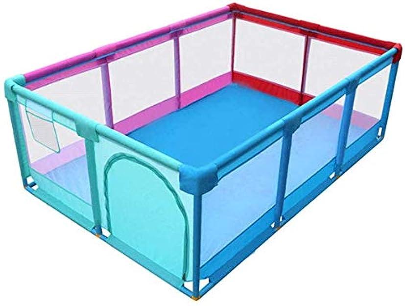 見かけ上著作権包括的Playpens大乳児ベビーキッズアクティビティセンター安全遊び庭ホーム屋内屋外、男の子女の子安全折り畳まれた幼児ホームフェンス、多色