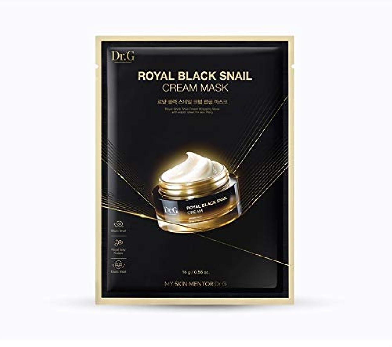第四鎖伸ばすDr.Gロイヤルブラックスネイルクリームマスク10EA 韓国の人気化粧品ブランドの人気マスクパックスキンケア肌鎮静カタツムリクリーム SNAIL CREAM MASK