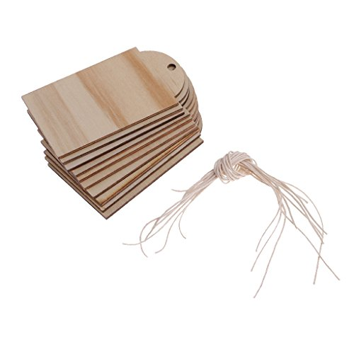 Dovewill 木製ラベル 長方形ブランク 結婚式飾り ギ...