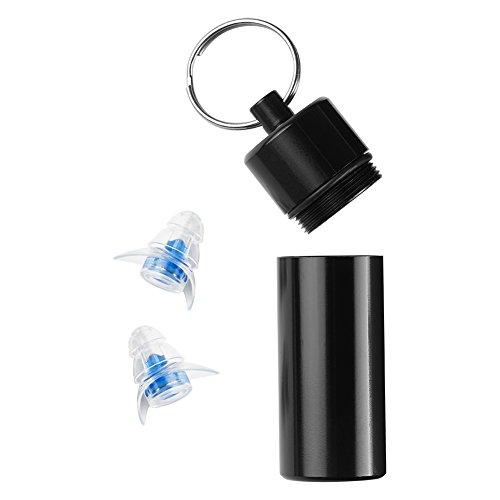 genyin 耳栓 防音具 音楽用耳栓 水洗い可能 携帯ケース付き 1組 (ブルー)