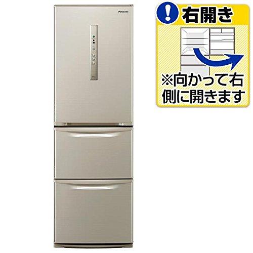 パナソニック 365L 3ドア冷蔵庫(シルキーゴールド)【右開...