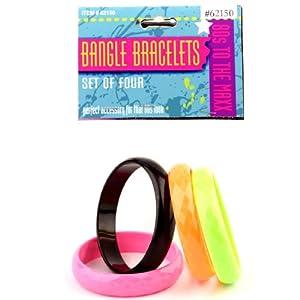80's Bangle Bracelet Set (4 piece) 80年代のバングルブレスレットセット(4ピース)♪ハロウィン♪サイズ:One-Size