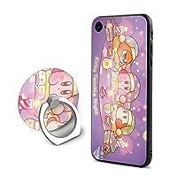 AdelioPo 星のカービィ スターアライズIPhone 7/ IPhone 8 ケース&リングブラケットセット 全面保護印刷 アイフォン7/8 人気 携帯ケース フォンケース Apple 7/8 男女兼用