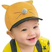 DORRISO 新生児ハット 子供帽子 ベビーニット帽 赤ちゃん 綿 無地 柔らかい 可愛い 小さな猫の帽子 暖かい 防風 防寒 保温 春 秋 冬 1?4歳に適しています ベビー